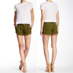Alice + Olivia Butterfly Shorts Olive Green